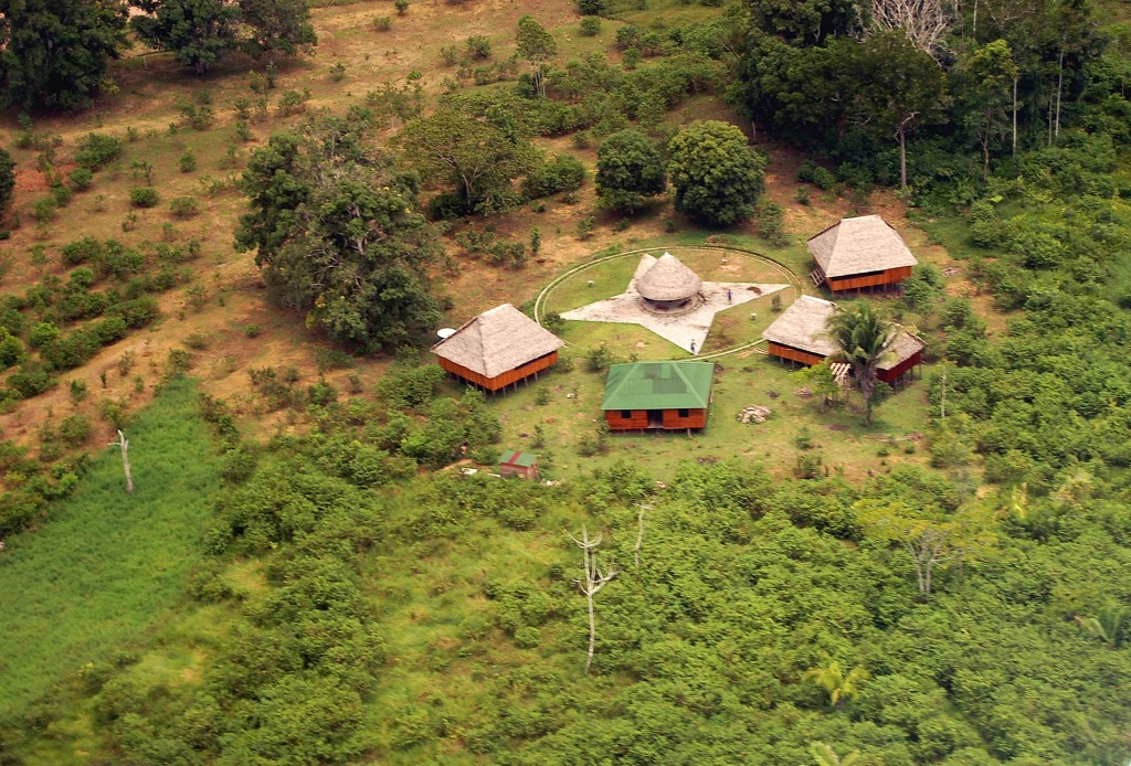 The Yorenka Atame School, in Brazil's Marechal Thaumaturgo right outside the Asháninka do Amônia's territory, educates the region on sustainable development practices such as agroforestry. Photo credit: Apiwtxa Association